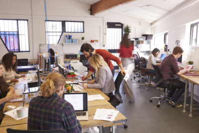 Coworking space, shared office space